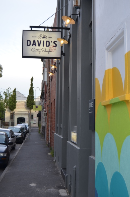 The outside of David's in Prahran