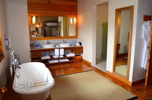The amazing bathroom at Uma Paro is the size of a small apartment
