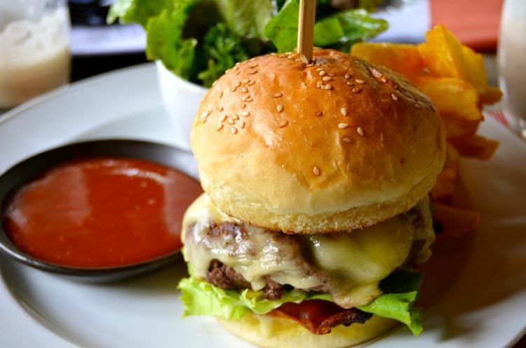 A yak burger