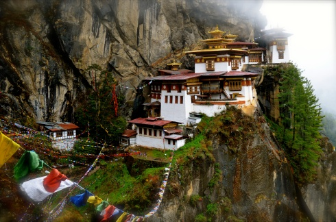 Tiger's Nest Monastery in all its glory perched on the cliff
