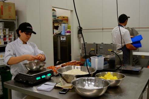 Inside the kitchen at Zumbo South Yarra