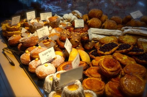Yum...so many delicious pastries to choose from