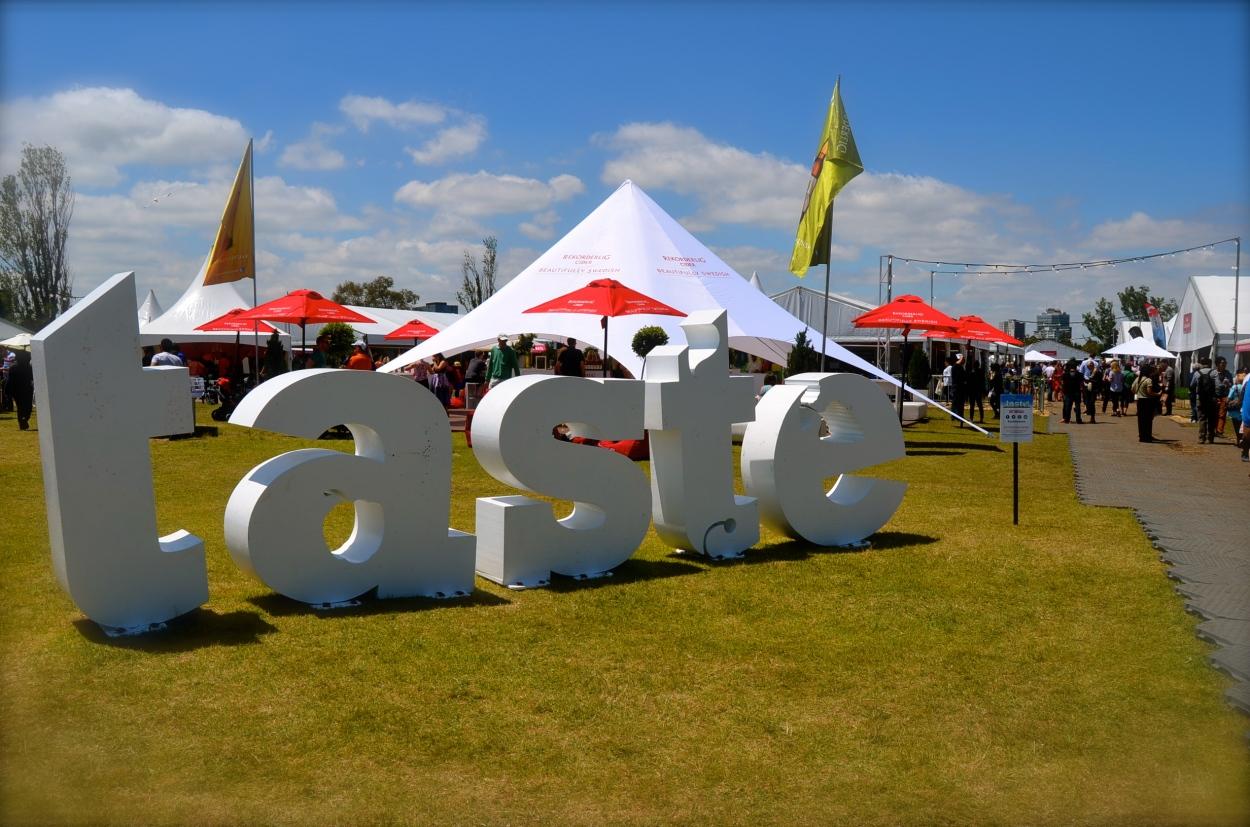 The entrance to Taste of Melbourne at Albert Park
