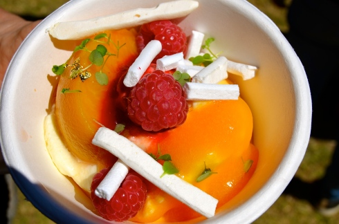 Peach Melba from Albert St Food and Wine