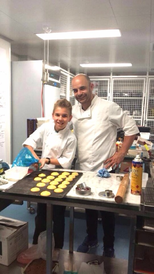 Hayden with his idol Adriano Zumbo