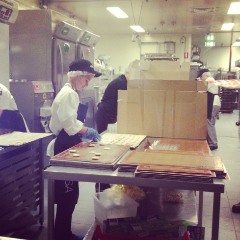 Hayden working away at Zumbo's Rozelle Patisserie