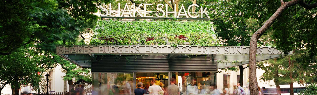 The Shake Shack stand at Madison Square Park