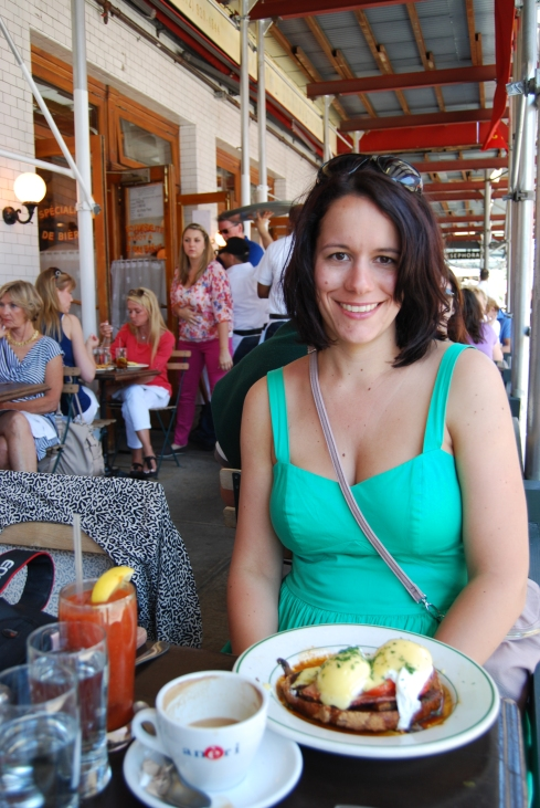 An image of me enjoying brunch at Pastis in New York