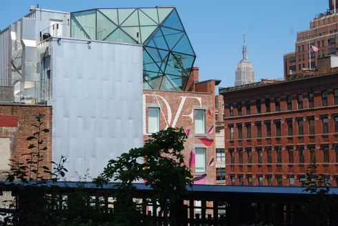 A view of the Meatpacking District and DVF from the High Line