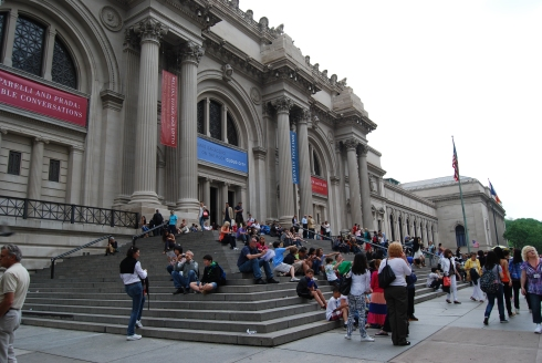 The steps at the Metropolitan Museum of Art