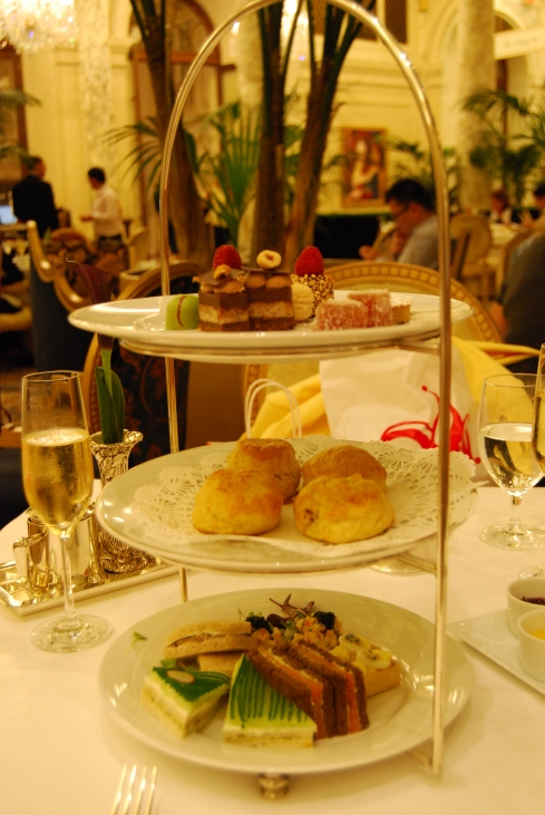 The Plaza's tiered stand of high tea delights