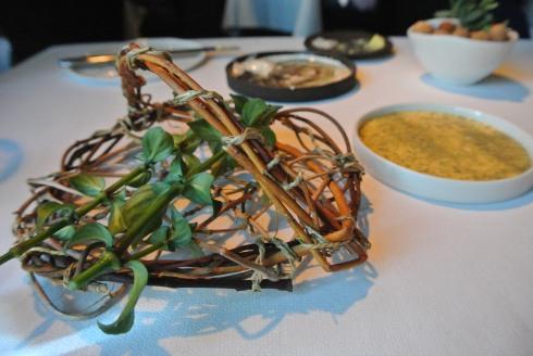 Mushroom Stalks with hollandaise-style sauce
