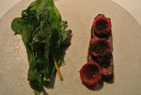 Red Kangaroo with Herbs Tended by the Hands of our Cooks