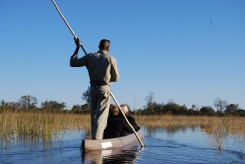 Mokoro canoe in Botswana