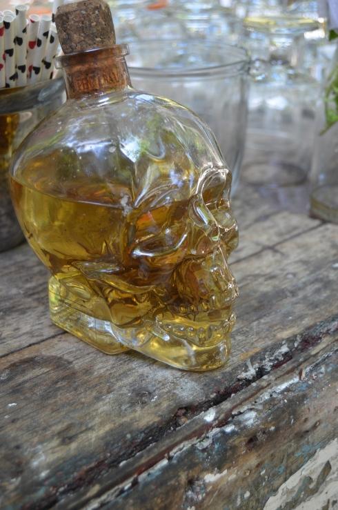 Tequila in a skull