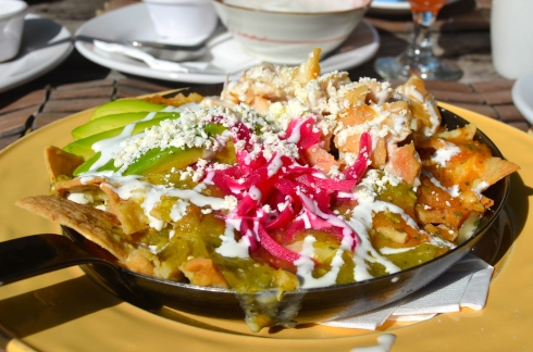 Tasty breakfast Chilaquiles