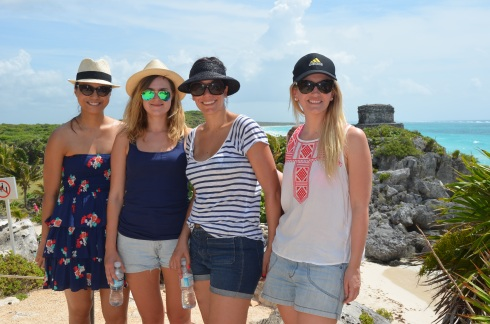 The girls and I at the Tulum Ruins
