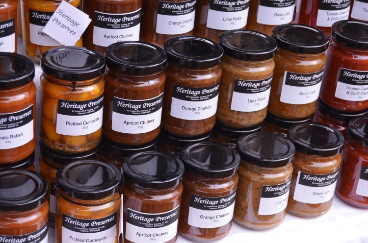 Fresh chutney at Margaret River Farmers' Market
