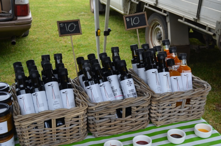 Homemade olive oils at Margaret River Farmers' Markets