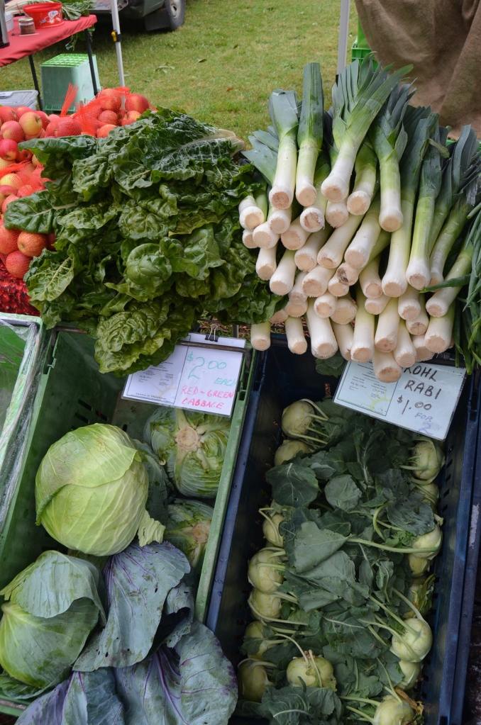 Fresh vegetables at Margaret River Farmers' Market