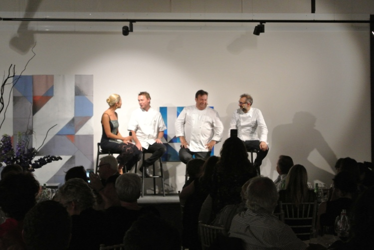 L to R: Magdalena Roze, Aaron Carr, Massimo Bottura, Peter Gilmore