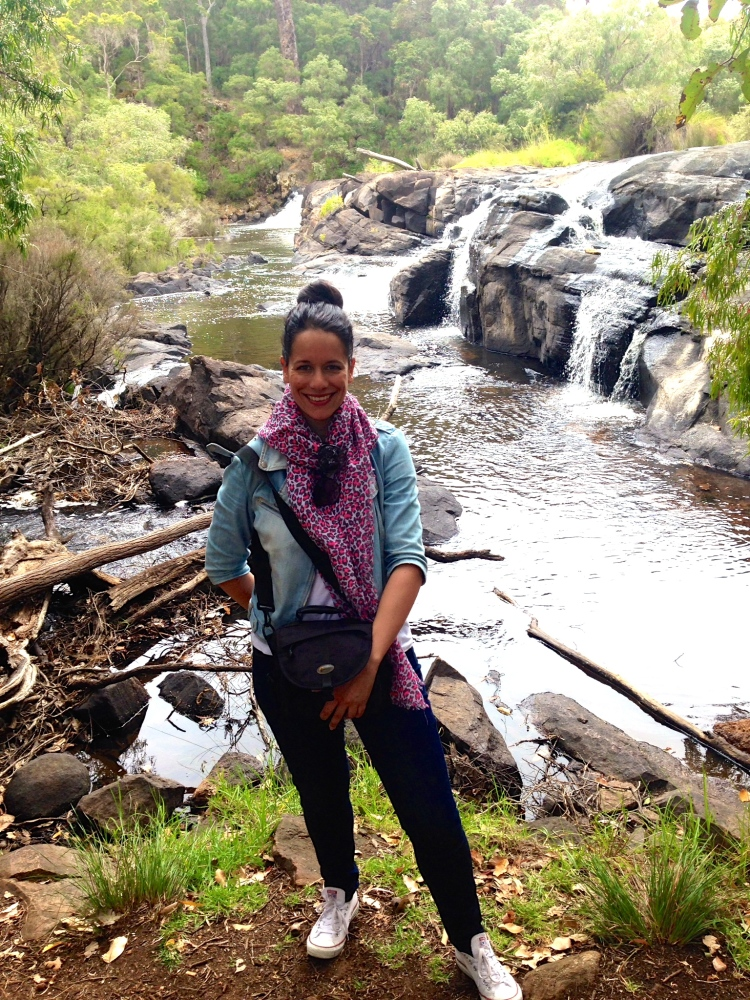Checking out waterfalls in Margaret River