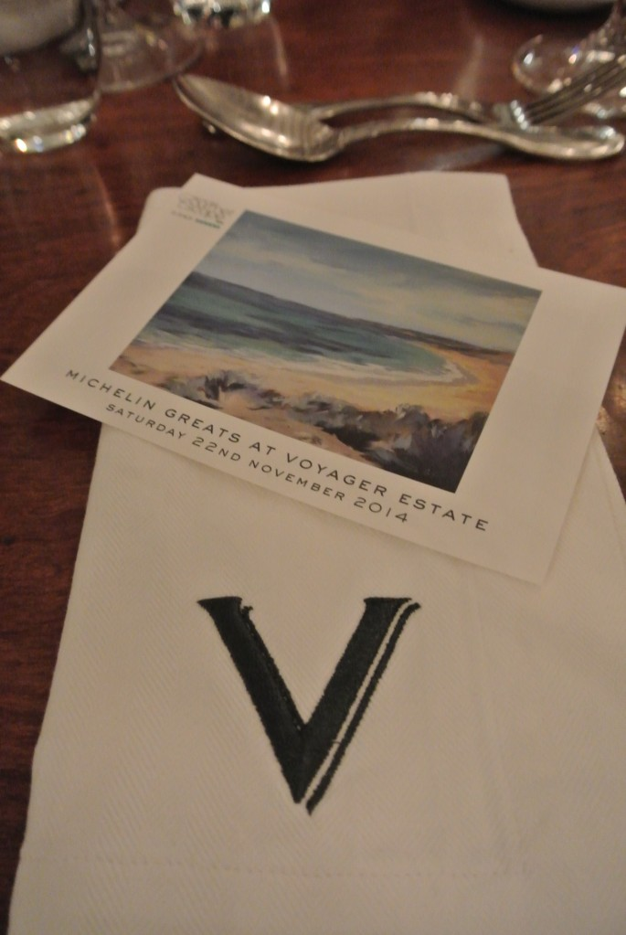 The Michelin Greats Dinner at Voyager Estate